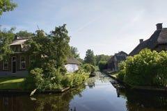 Idyllic Giethoorn Stock Photo