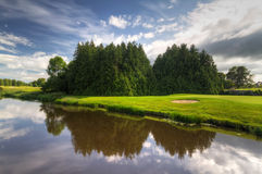 Idyllic golf course Stock Photos