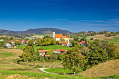 Idyllic green nature of village of Glogovnica Stock Photo