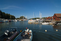 Idyllic guest harbour Utö Royalty Free Stock Images