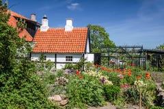 Idyllic half-timbered house on Bornholm Royalty Free Stock Photo