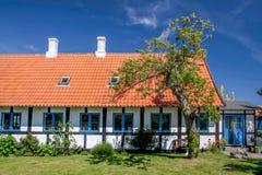 Idyllic half-timbered house on Bornholm Stock Photo
