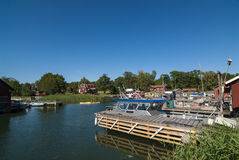 Idyllic harbour Ramsmora Sweden Stock Photography
