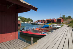 Idyllic harbour Ramsmora Sweden Royalty Free Stock Images
