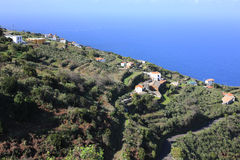 Idyllic hillside on La Palma Island, Spain stock images