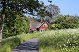 Idyllic holiday cottage Stock Image