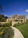 Idyllic house. Traditional English village house in sunny day Stock Photo