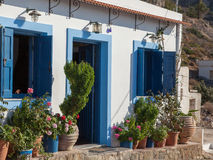 Idyllic house in a small greek village Royalty Free Stock Images
