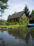 An idyllic house at the Spreewald river Royalty Free Stock Photography