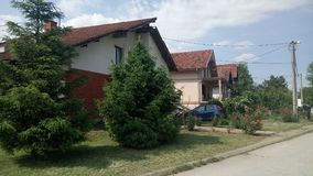 Idyllic house. A house in the suburbs of Jagodina, Serbia Stock Image