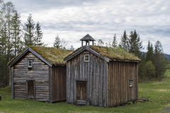 Idyllic huts in Norway Royalty Free Stock Images