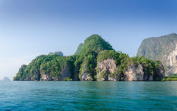 Idyllic island of Phang Nga National Park Royalty Free Stock Photos