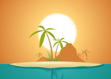 Idyllic Island Poster Royalty Free Stock Photos