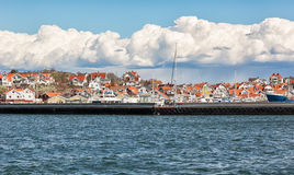 Idyllic island village in Gothenburgs archipelago. Stock Photography