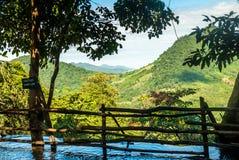 The idyllic Kuang Si Waterfall near Luang Prabang, Laos Royalty Free Stock Photo
