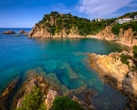 Idyllic Lagoon and Famous Botanical Garden in Blanes, Catalonia, Royalty Free Stock Photos