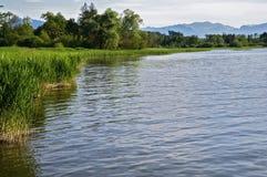 Idyllic Lake in the Bavarian Alps Royalty Free Stock Photo