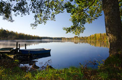 Idyllic lake frame Royalty Free Stock Photos