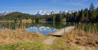 Idyllic lake geroldsee - panorama Royalty Free Stock Photography