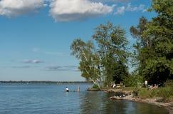 Idyllic lake scene Royalty Free Stock Image
