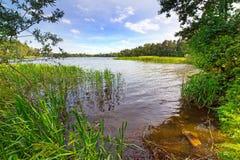 Idyllic lake scenery Royalty Free Stock Images