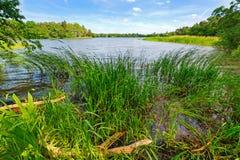 Idyllic lake scenery Stock Image