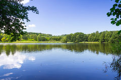 Idyllic lake scenery Royalty Free Stock Image
