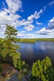 Idyllic lake scenery in Sweden. Idyllic scenery of the lake in summer time, Sweden Royalty Free Stock Images