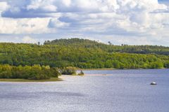 Idyllic lake scenery in Sweden Stock Image