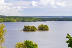Idyllic lake scenery in Sweden. Idyllic scenery of the lake in summer time, Sweden Royalty Free Stock Photos