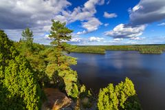 Idyllic lake scenery in Sweden Royalty Free Stock Photography