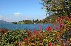Idyllic lakeside tegernsee Royalty Free Stock Photography