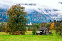 Idyllic landscape in the Alps Stock Photography
