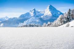 Idyllic landscape in the Bavarian Alps, Berchtesgaden, Germany Royalty Free Stock Image