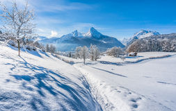 Idyllic landscape in the Bavarian Alps, Berchtesgaden, Germany Royalty Free Stock Photos
