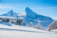 Idyllic landscape in the Bavarian Alps, Berchtesgaden, Germany Royalty Free Stock Photo
