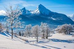 Idyllic landscape in the Bavarian Alps, Berchtesgaden, Germany Royalty Free Stock Photos