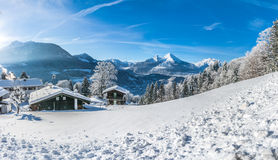 Idyllic landscape in the Bavarian Alps, Berchtesgaden, Germany Stock Images