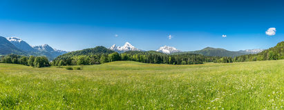 Idyllic landscape in the Bavarian Alps, Berchtesgaden, Germany Royalty Free Stock Images