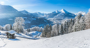 Idyllic landscape in the Bavarian Alps, Berchtesgaden, Germany Stock Photography