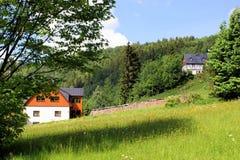 Idyllic landscape in the Erzgebirge Stock Photography