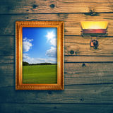 Idyllic landscape exposition Royalty Free Stock Photos
