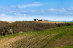 Idyllic landscape with lonely farm Royalty Free Stock Image