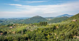 Idyllic landscape near Roccantina, in the province of Rieti, Latium, central Italy. Sabina Latin: Sabinium, also called the Sabine Hills, is a region in central Stock Image