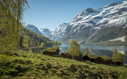 Idyllic landscape in Norway Royalty Free Stock Photography
