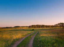 Idyllic landscape in Russia Royalty Free Stock Photo