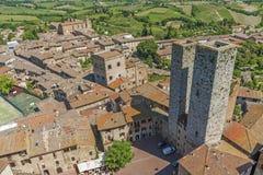 Idyllic Landscape in Tuscany, Italy Stock Photo