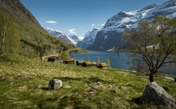 Idyllic landscape in Norway. Idyllic landscape in western Norway Royalty Free Stock Photography
