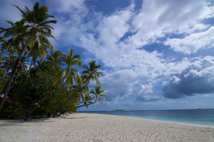 Idyllic Maldives beach scene Royalty Free Stock Photography