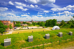 Idyllic meadow in city centre of Gdansk Royalty Free Stock Photo